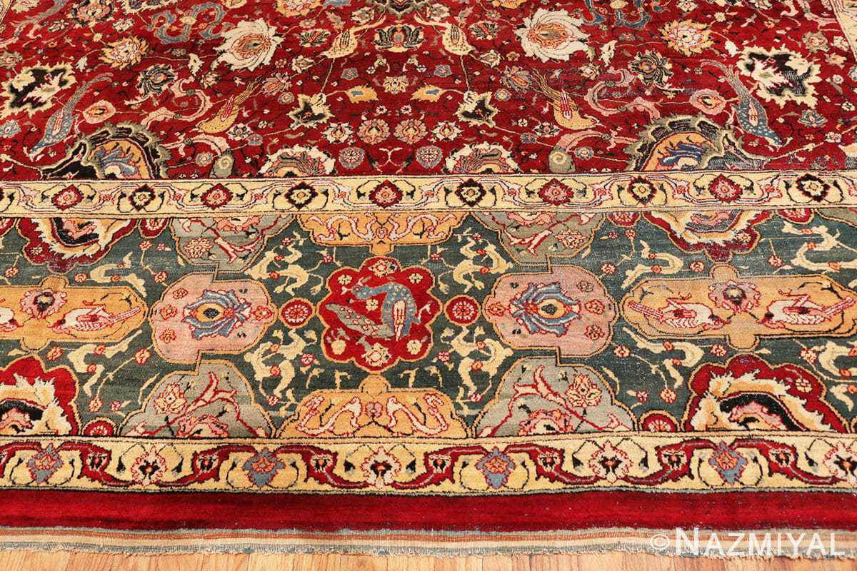 Border Antique Indian Agra rug 41269 by Nazmiyal
