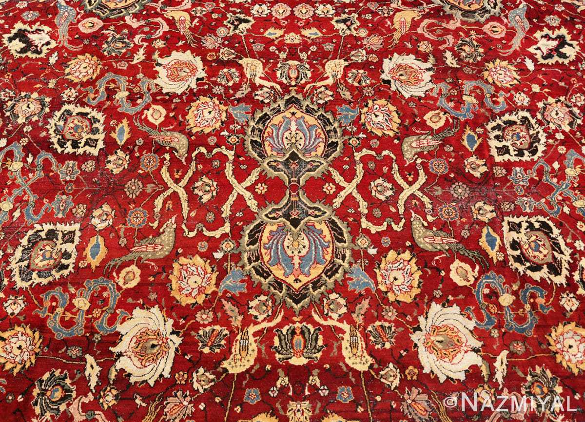 Detail Antique Indian Agra rug 41269 by Nazmiyal