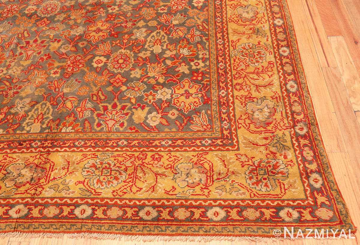 Corner Antique Gray Background English Axminster rug 2772 by Nazmiyal
