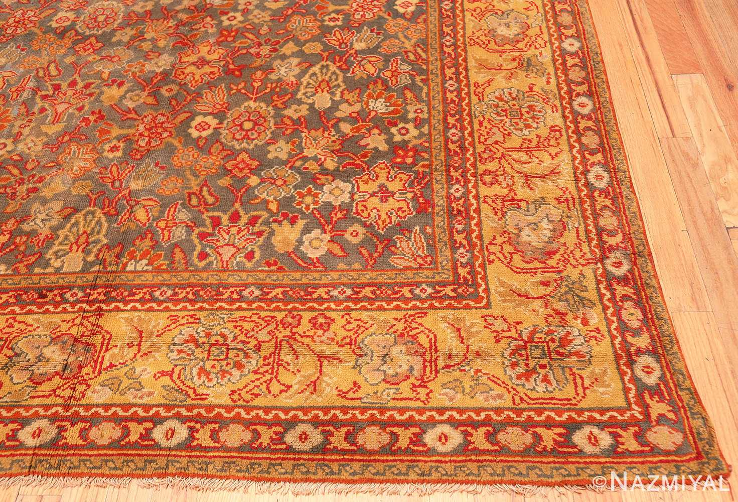 English Gray Antique Axminster Rug 2772 Nazmiyal Antique Rugs