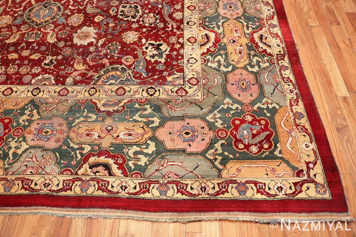 Corner Antique Indian Agra rug 41269 by Nazmiyal
