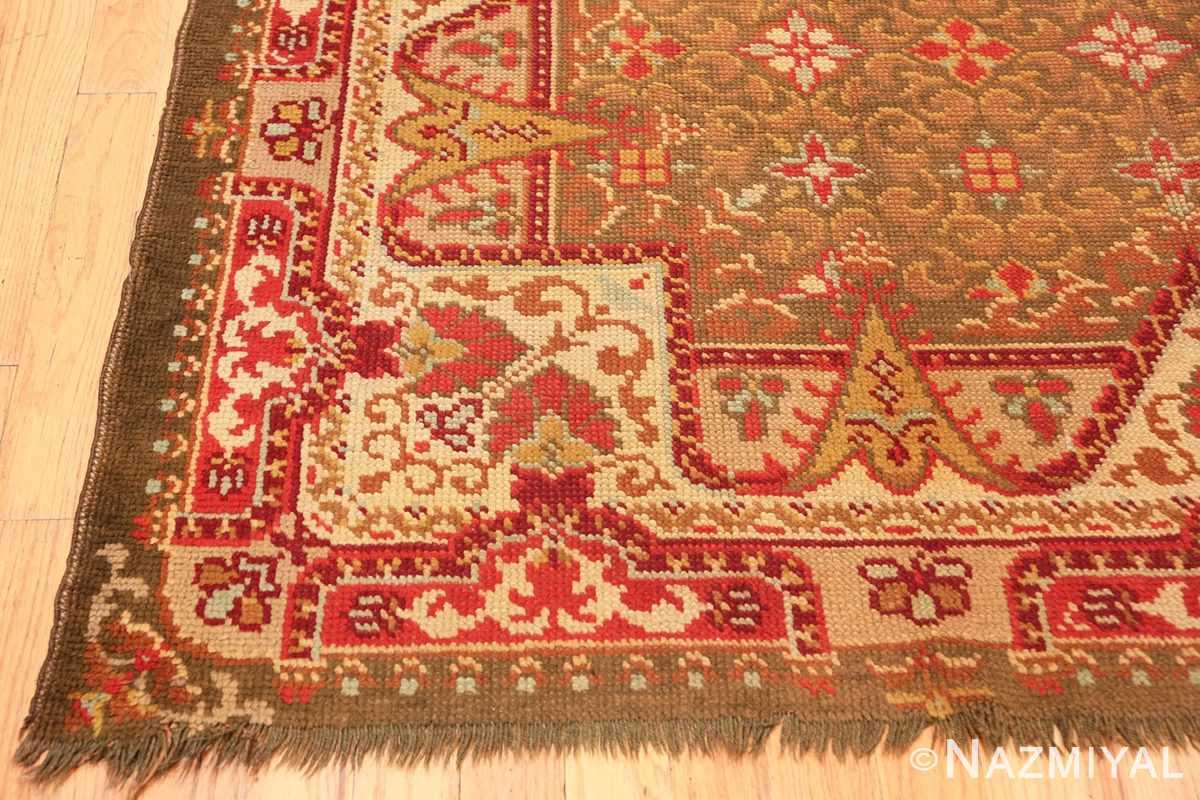 Corner Antique Irish rug 1285 by Nazmiyal