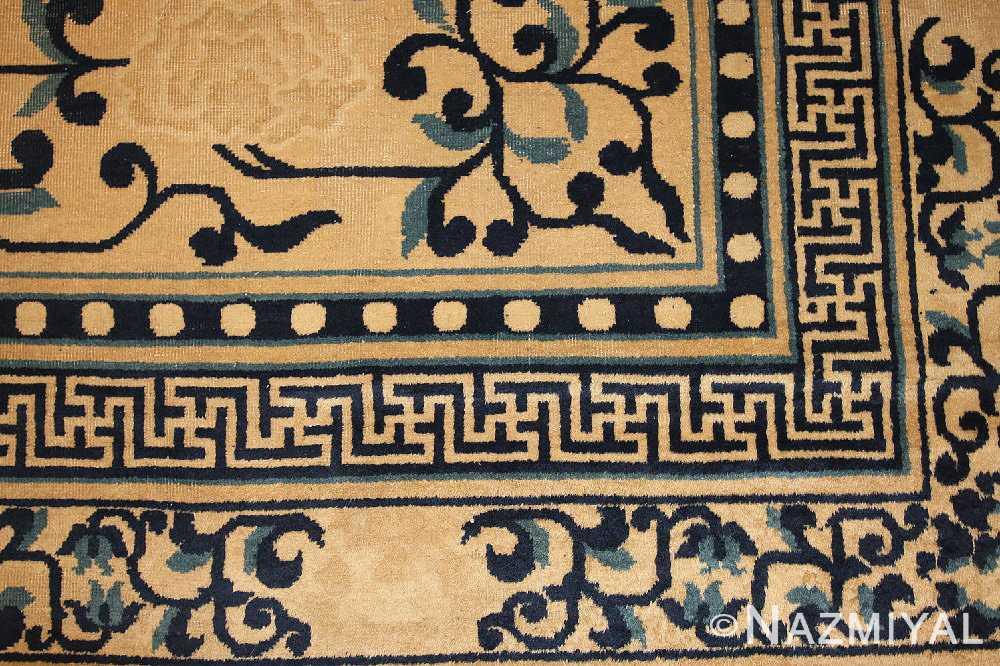 decorative antique chinese design rug 2139 details Nazmiyal