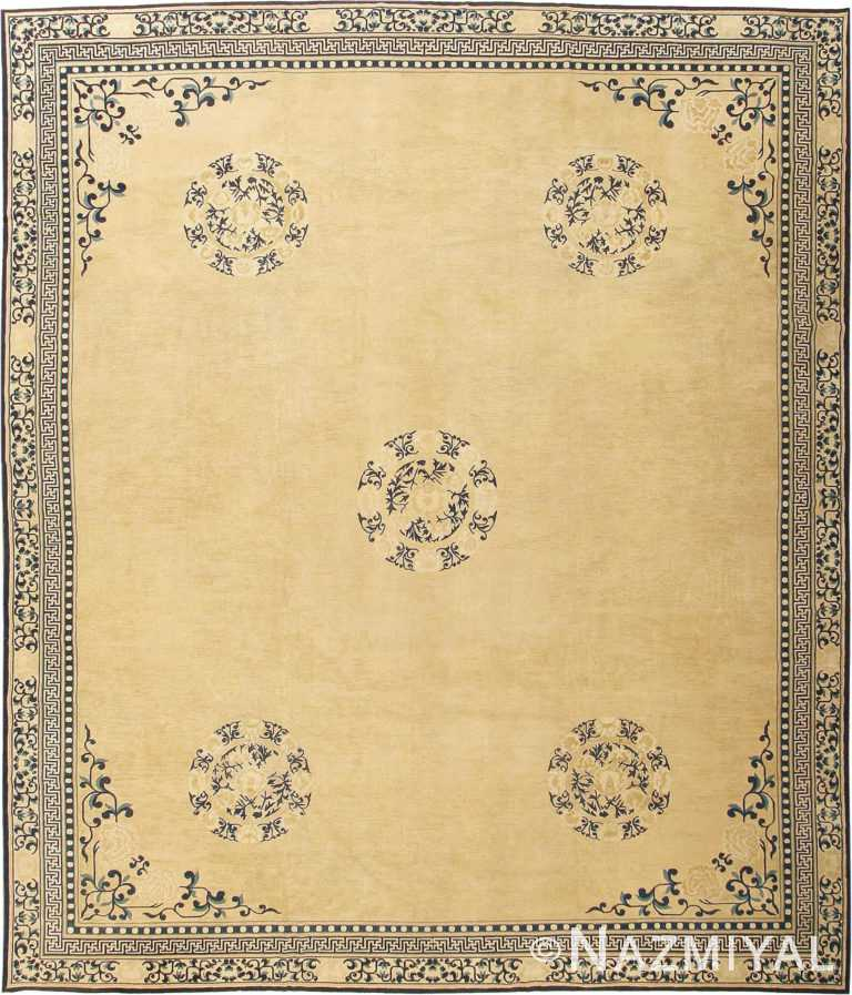 Decorative Antique Chinese Design Rug #2139 by Nazmiyal Antique Rugs