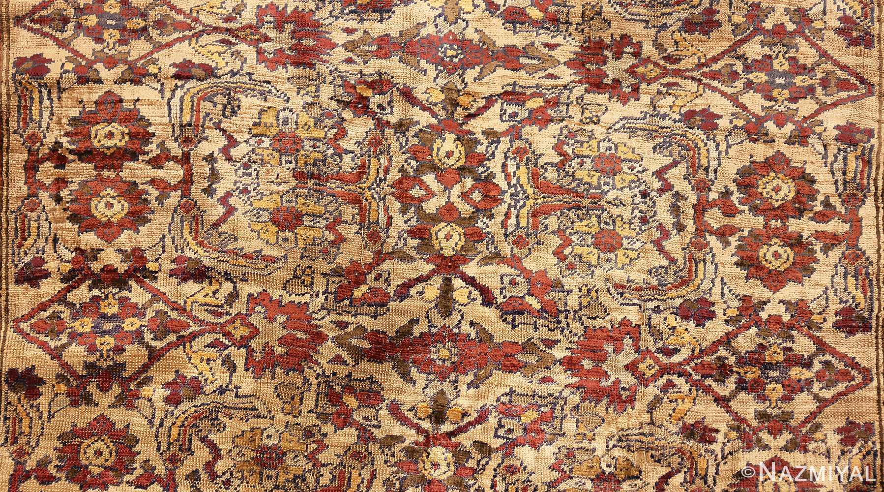 extremely fine antique silk persian farahan rug 40995 field Nazmiyal