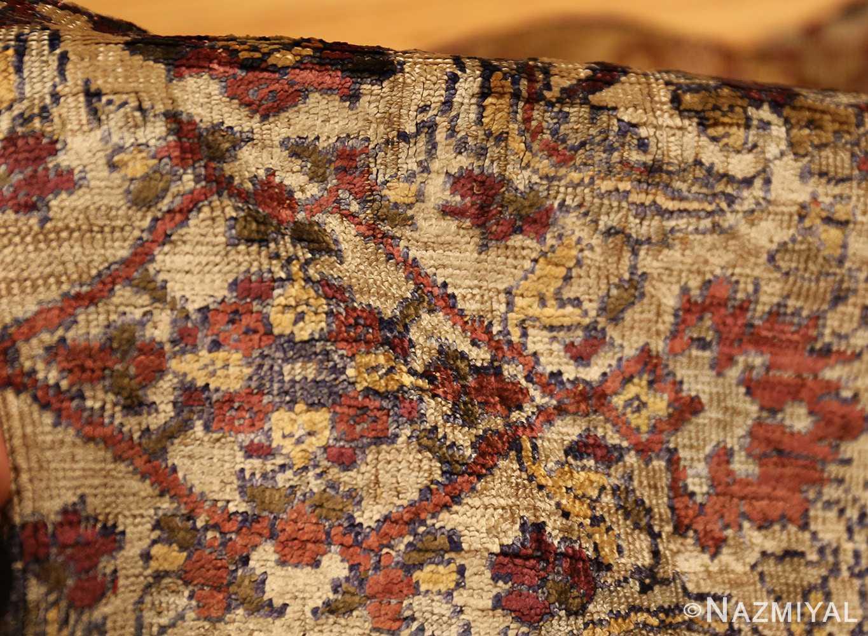 extremely fine antique silk persian farahan rug 40995 pile Nazmiyal