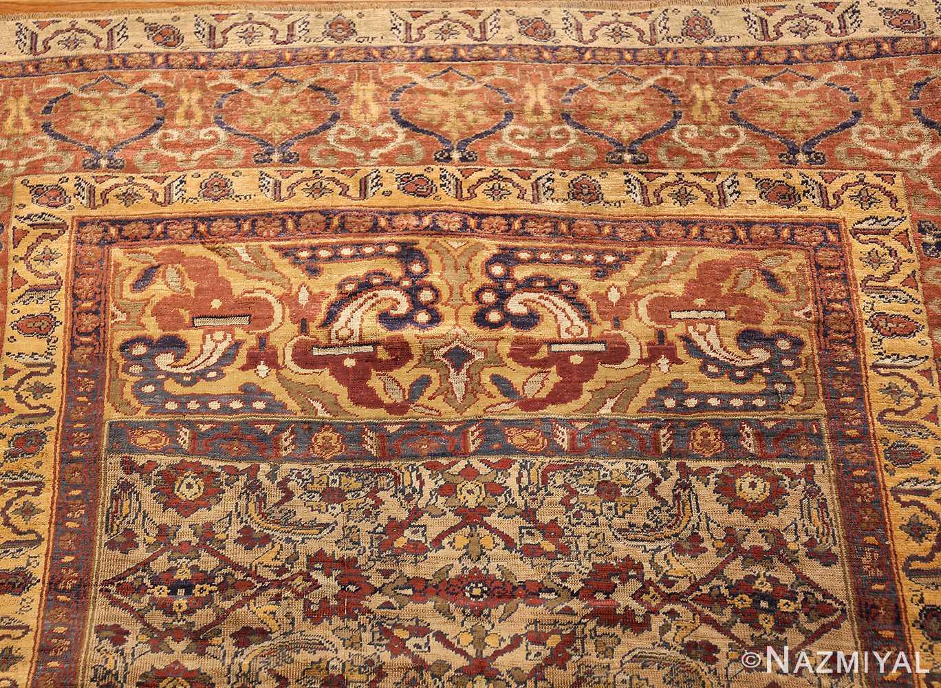 extremely fine antique silk persian farahan rug 40995 top Nazmiyal
