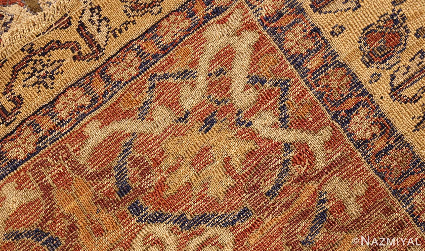 extremely fine antique silk persian farahan rug 40995 weave Nazmiyal