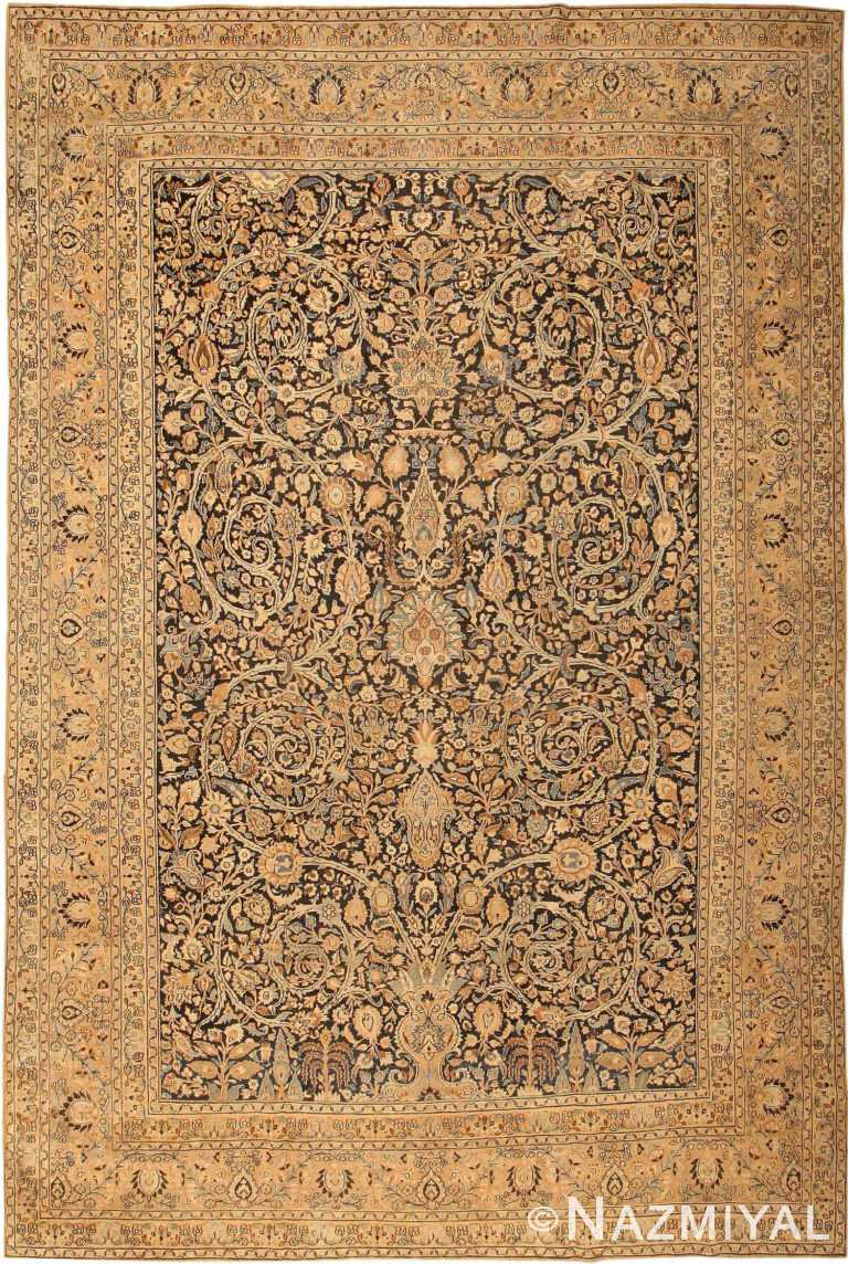 Fine Decorative Large Antique Khorassan Persian Carpet 41814 by Nazmiyal Antique Rugs