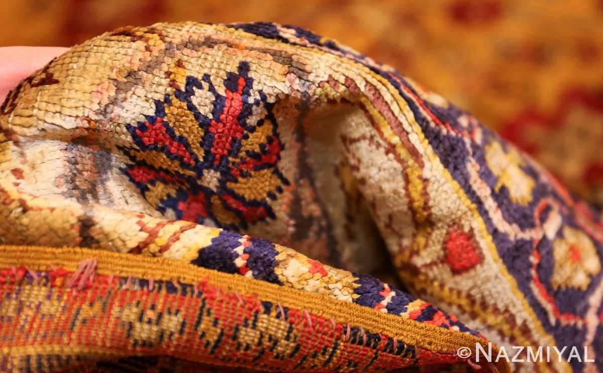 fine gold background antique silk turkish rug 1963 pile Nazmiyal