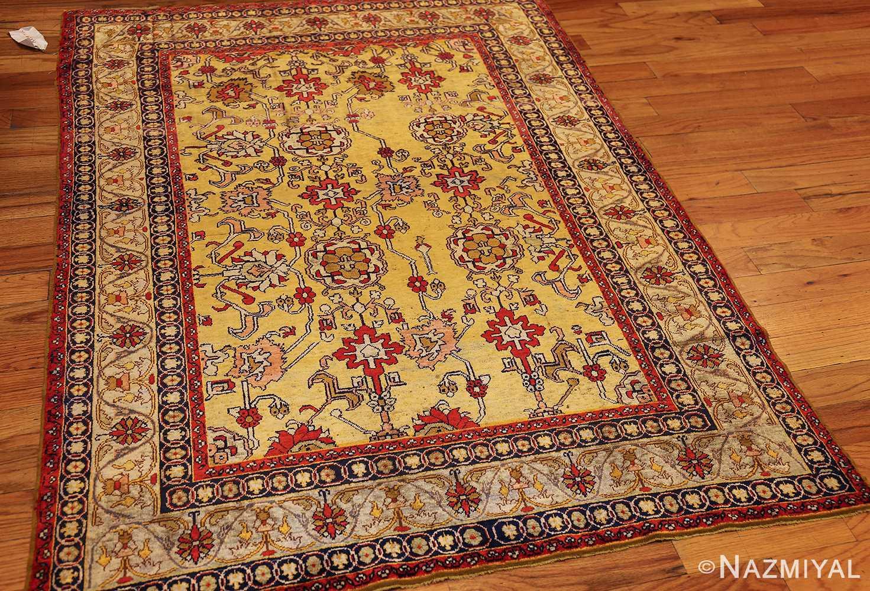 fine gold background antique silk turkish rug 1963 whole Nazmiyal