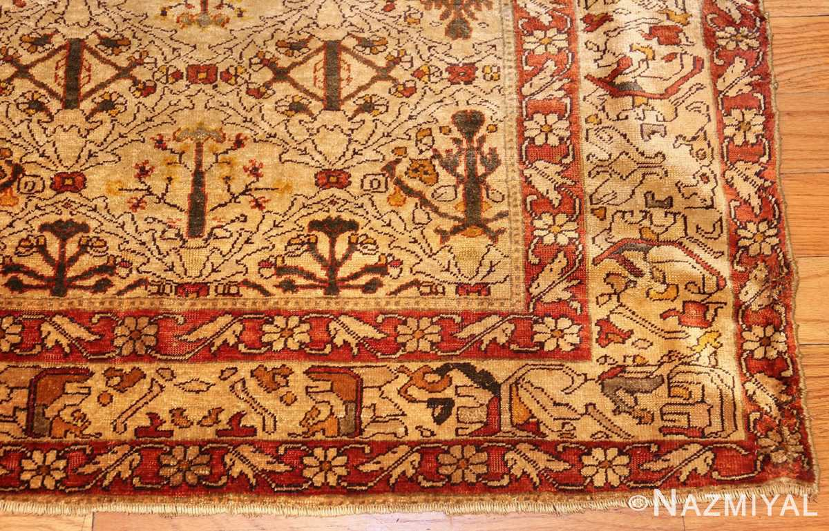 fine silk kayseri turkish antique rug 1288 corner Nazmiyal