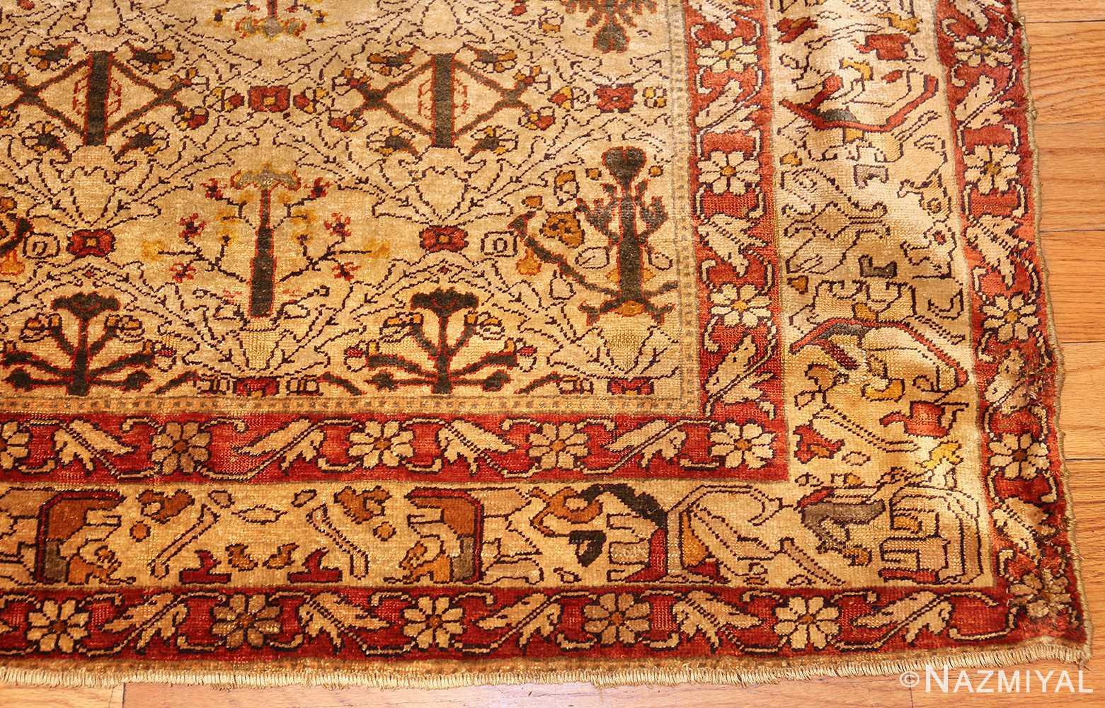 fine silk kayseri turkish antique rug 1288 corner Nazmiyal