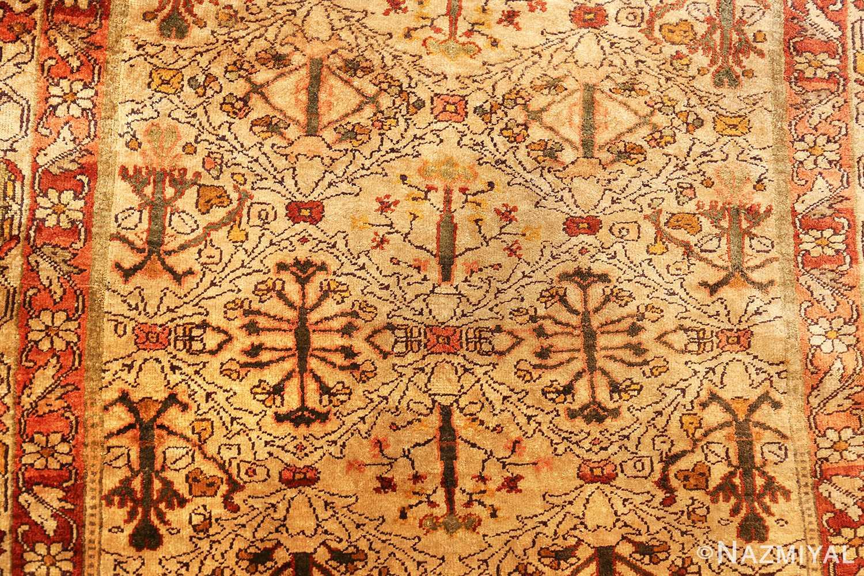 fine silk kayseri turkish antique rug 1288 field Nazmiyal