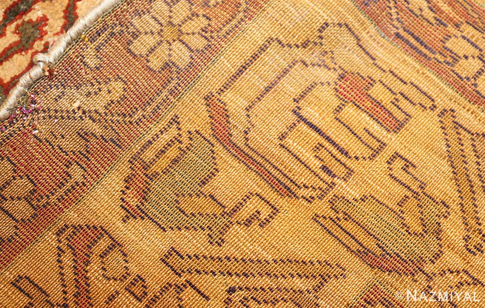 fine silk kayseri turkish antique rug 1288 weave Nazmiyal