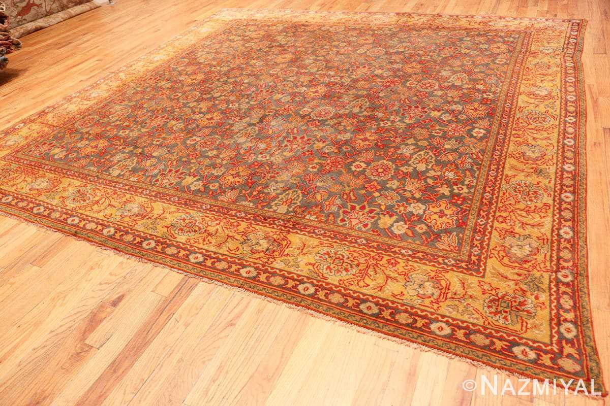 Full Antique Gray Background English Axminster rug 2772 by Nazmiyal