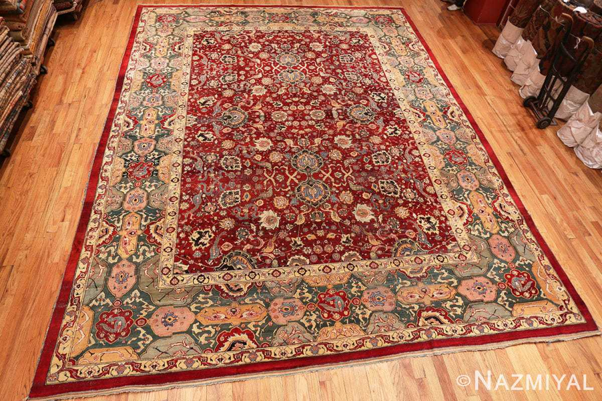 Full Antique Indian Agra rug 41269 by Nazmiyal