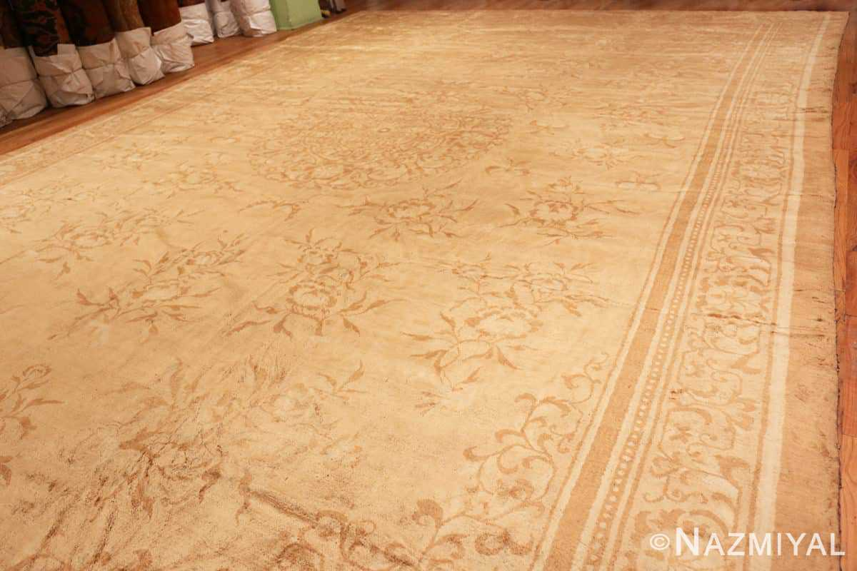 Full Antique Indian Agra Oriental rug 1197 by Nazmiyal