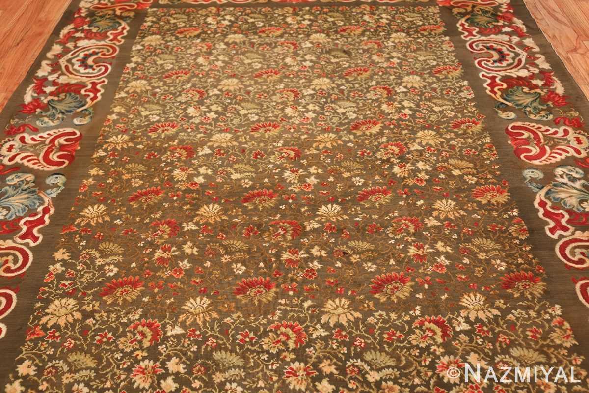 green background antique ukrainian rug 3404 field Nazmiyal