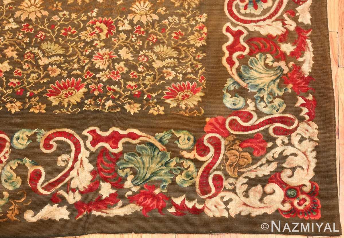 green background antique ukrainian rug 3404 part Nazmiyal
