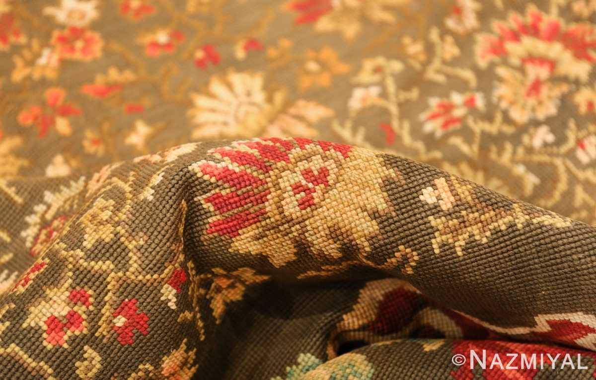 green background antique ukrainian rug 3404 pile Nazmiyal