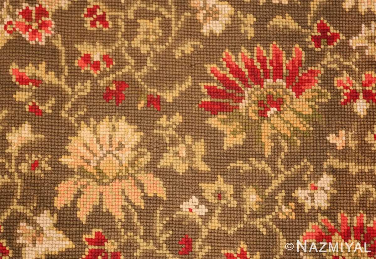 green background antique ukrainian rug 3404 red Nazmiyal