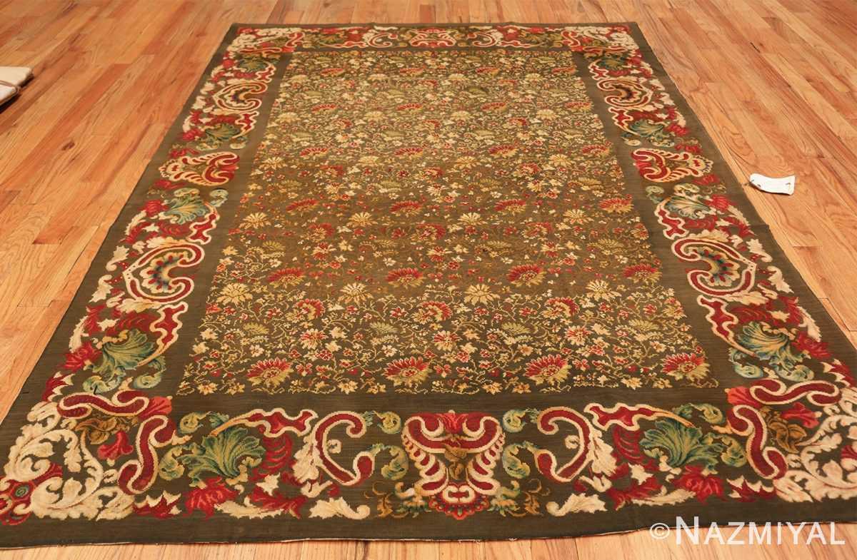 green background antique ukrainian rug 3404 whole Nazmiyal