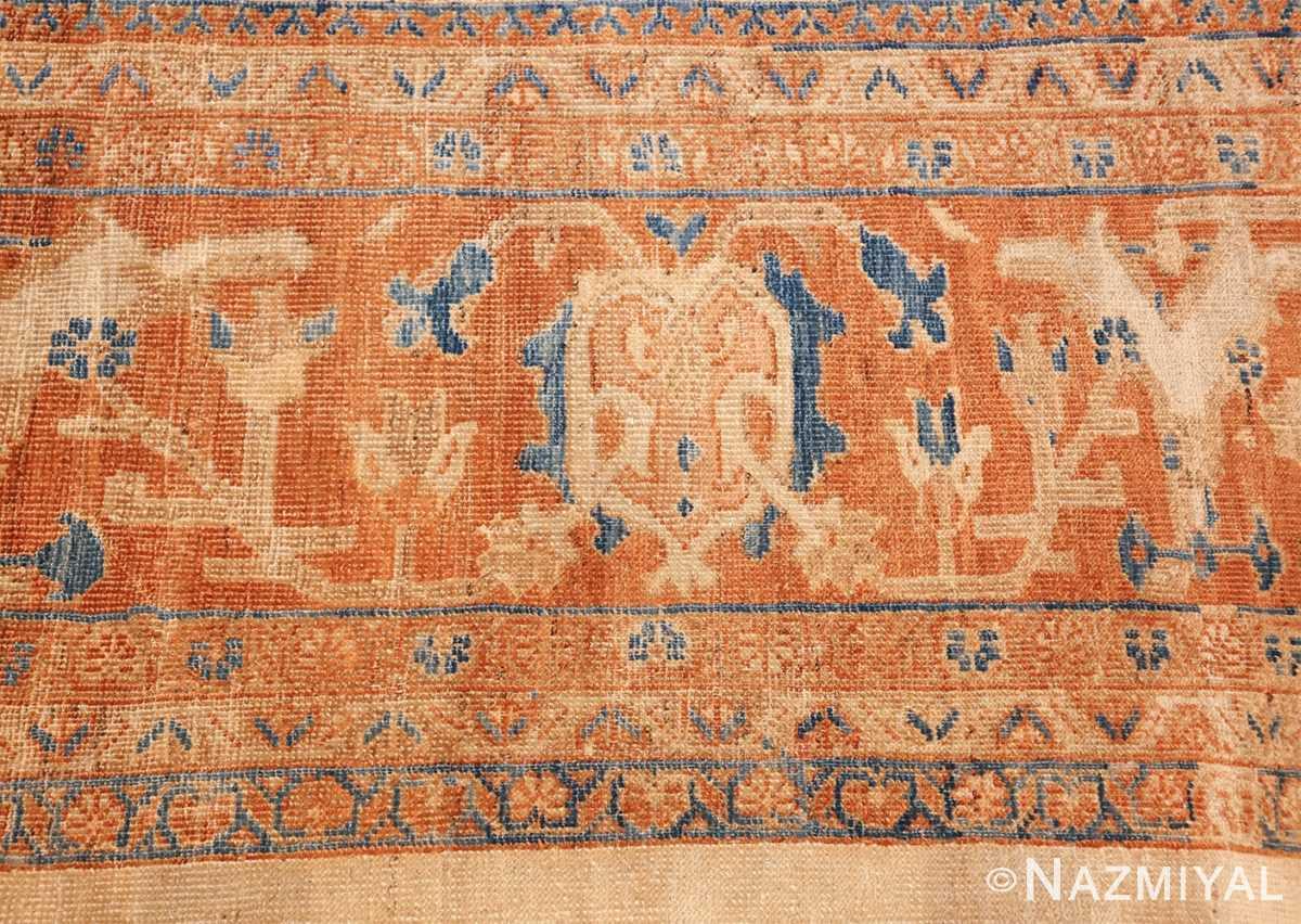 large antique ivory background persian sultanabad rug 3250 border Nazmiyal