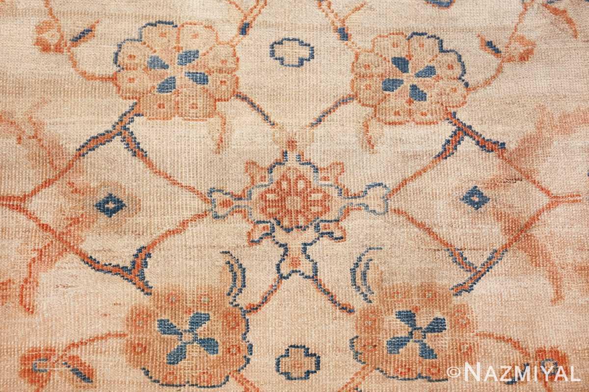 large antique ivory background persian sultanabad rug 3250 closeup Nazmiyal