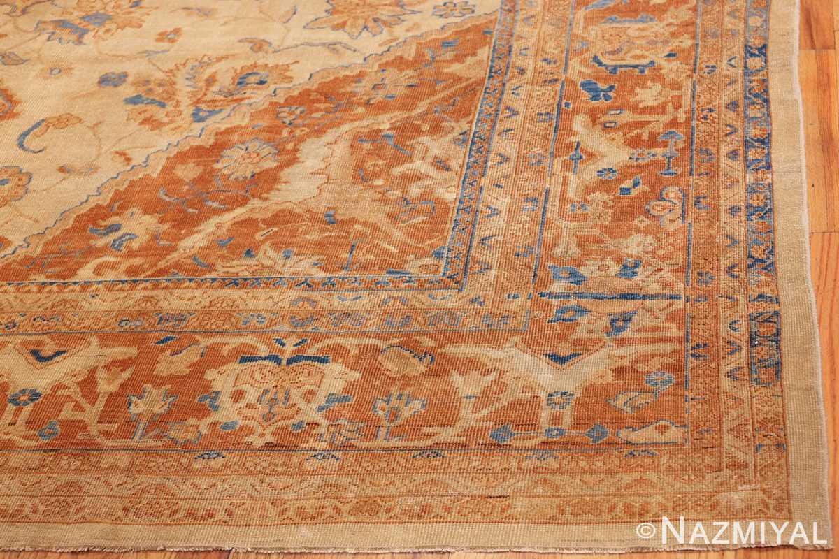 large antique ivory background persian sultanabad rug 3250 corner Nazmiyal