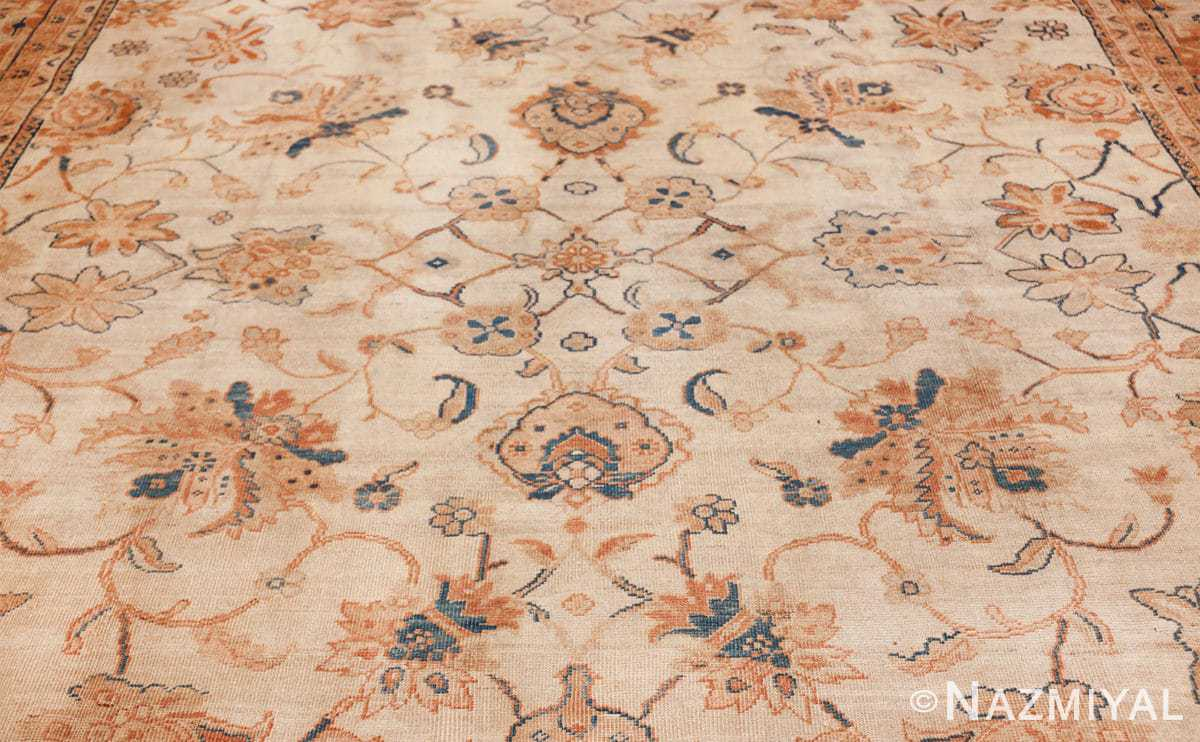 large antique ivory background persian sultanabad rug 3250 field Nazmiyal