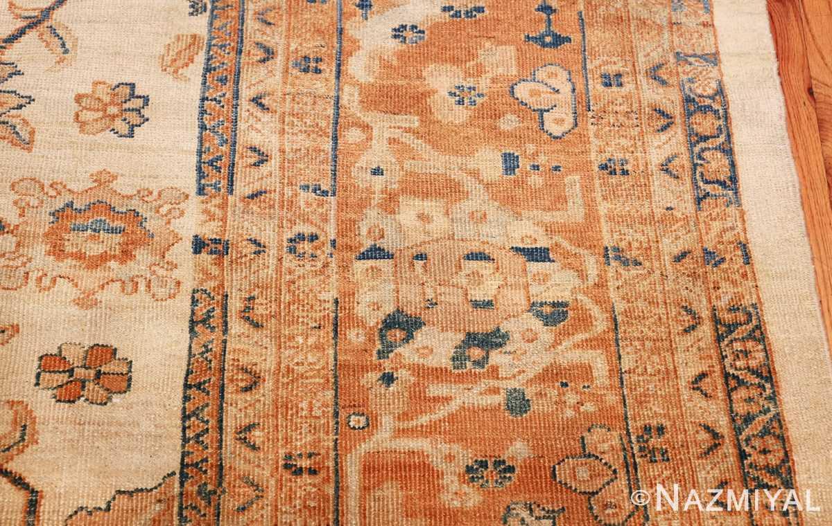 large antique ivory background persian sultanabad rug 3250 round Nazmiyal