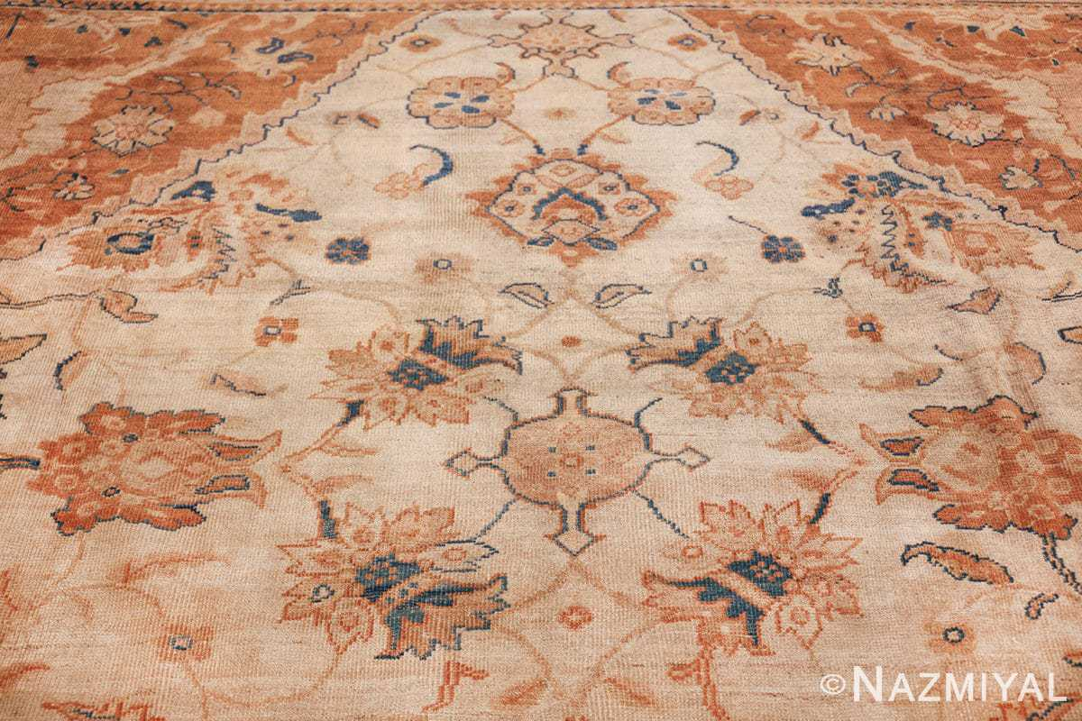 large antique ivory background persian sultanabad rug 3250 top Nazmiyal