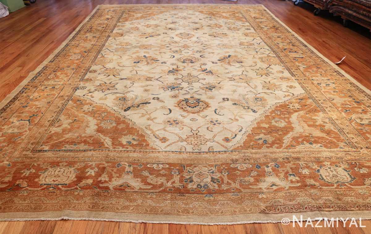 large antique ivory background persian sultanabad rug 3250 whole Nazmiyal