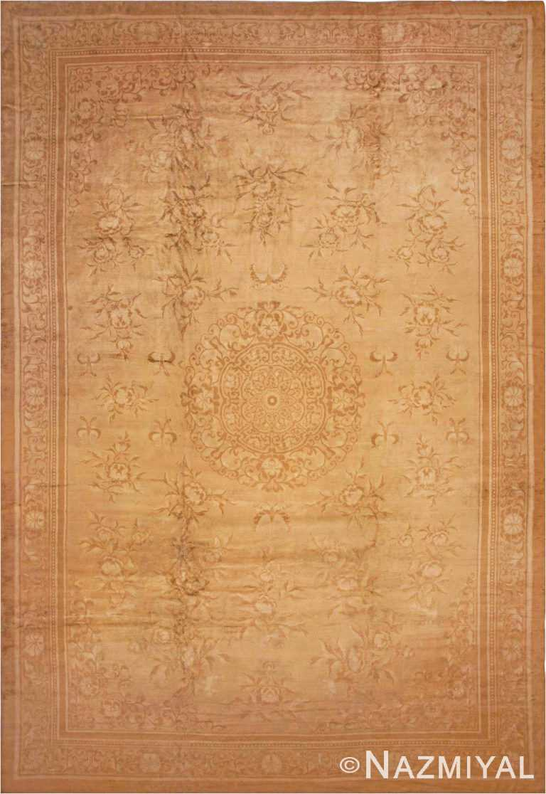 Oversized Antique Oriental Indian Agra Rug #1197 by Nazmiyal Antique Rugs