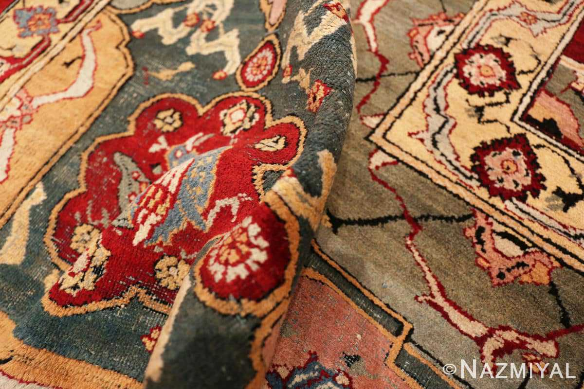 Pile Antique Indian Agra rug 41269 by Nazmiyal