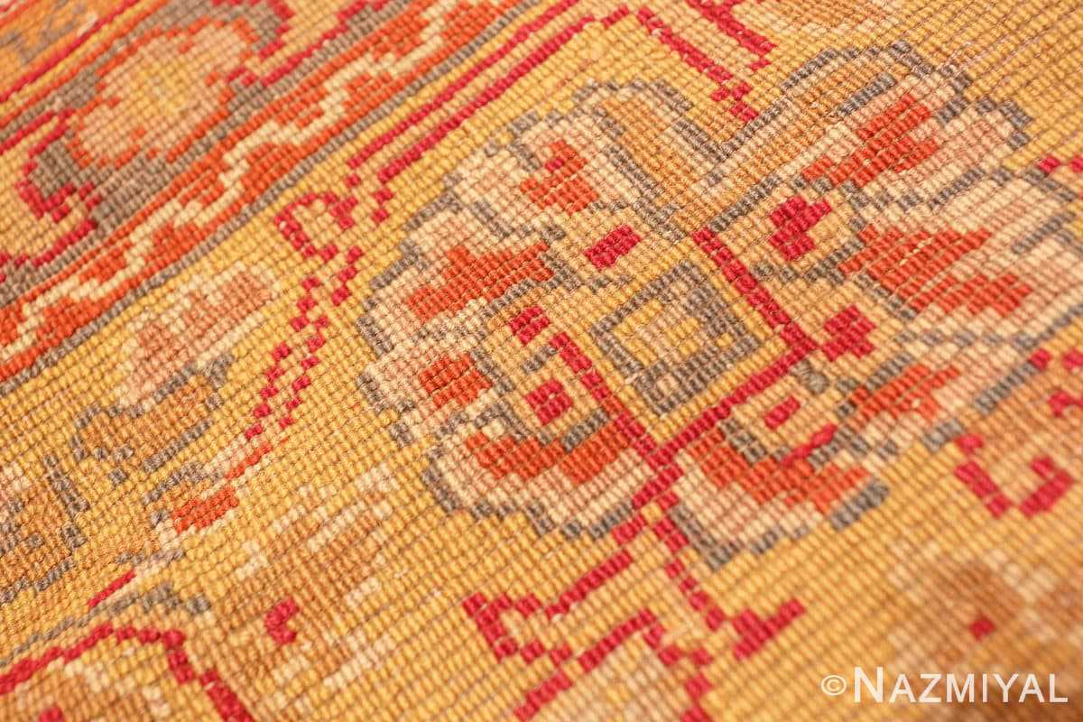 Weave detail Antique Gray Background English Axminster rug 2772 by Nazmiyal