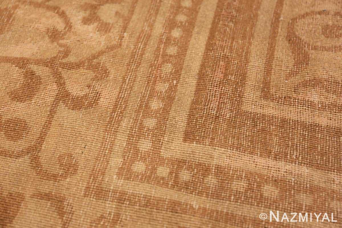 Weave detail Antique Indian Agra Oriental rug 1197 by Nazmiyal