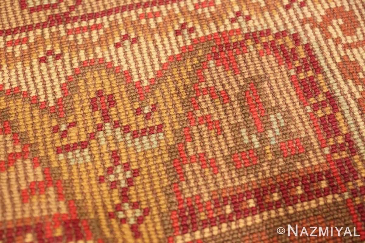 Weave detail Antique Irish rug 1285 by Nazmiyal
