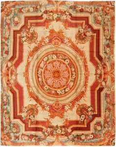 large antique english axminster rug 3437 Nazmiyal