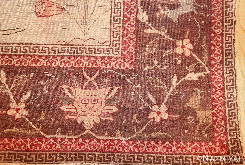 antique amritsar indian rug 42169 corner Nazmiyal