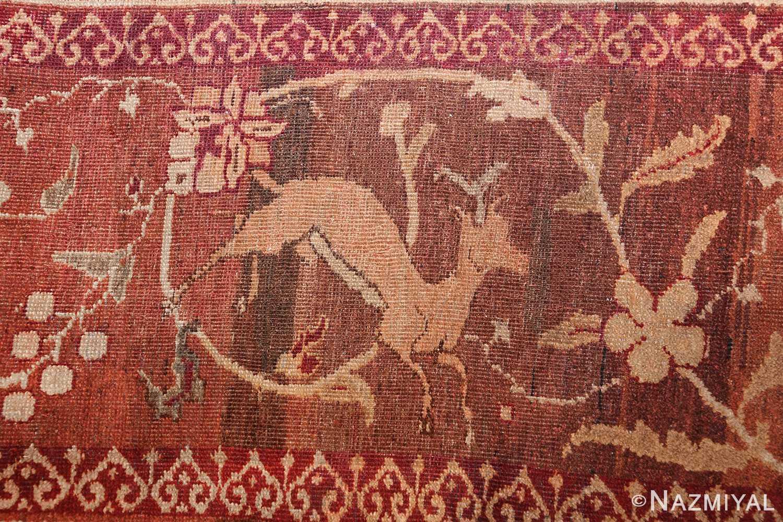 antique amritsar indian rug 42169 deer Nazmiyal