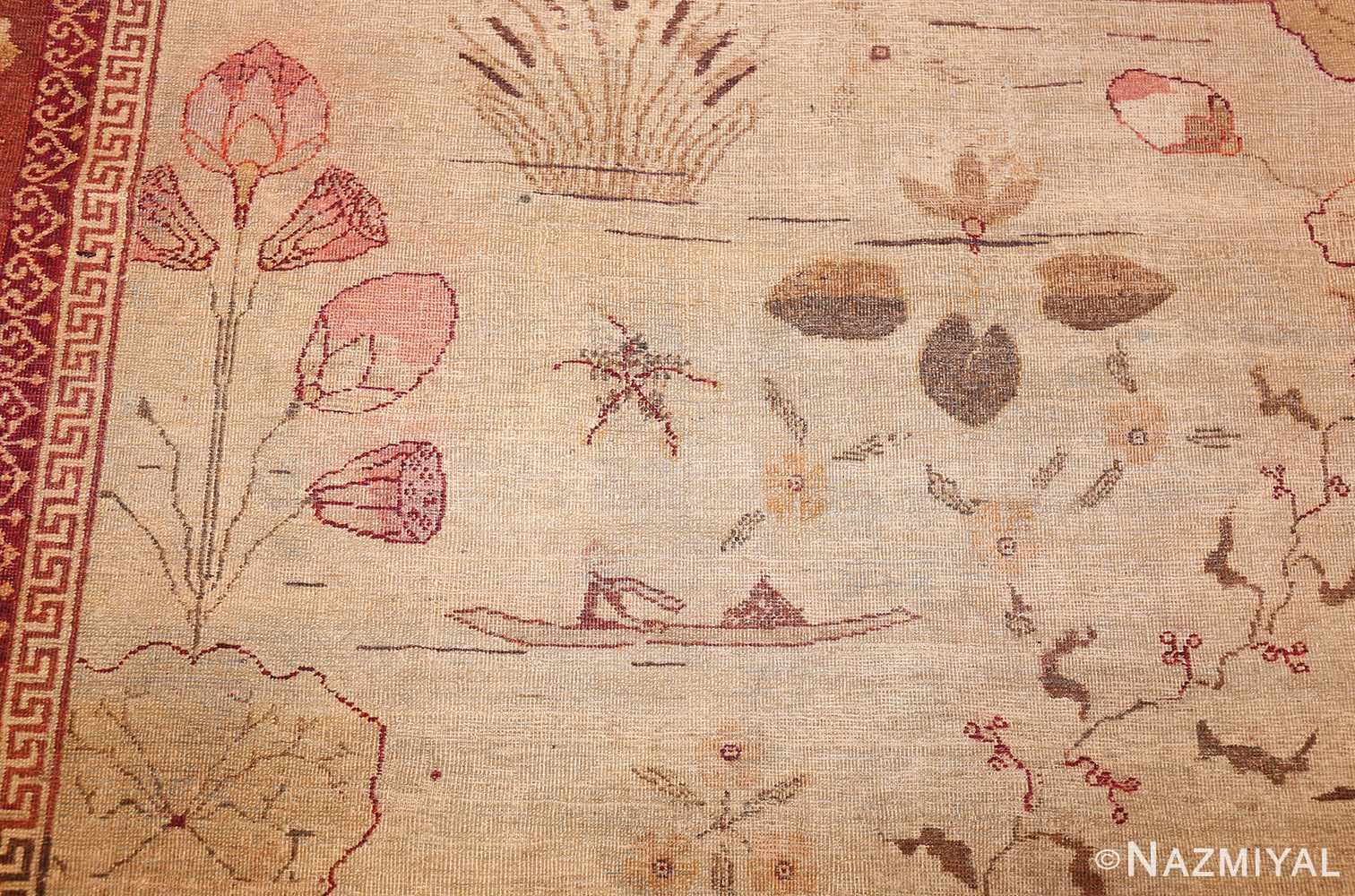 antique amritsar indian rug 42169 flower Nazmiyal
