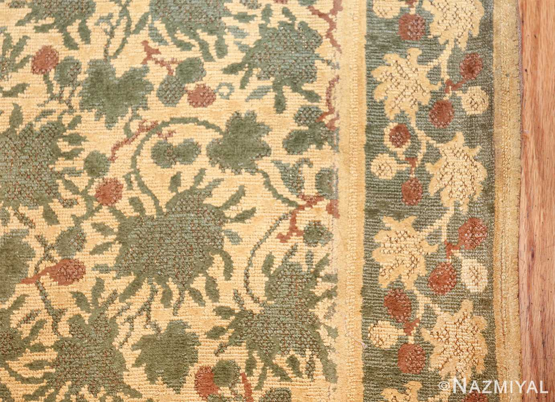 antique english chenille english rug 3418 border Nazmiyal
