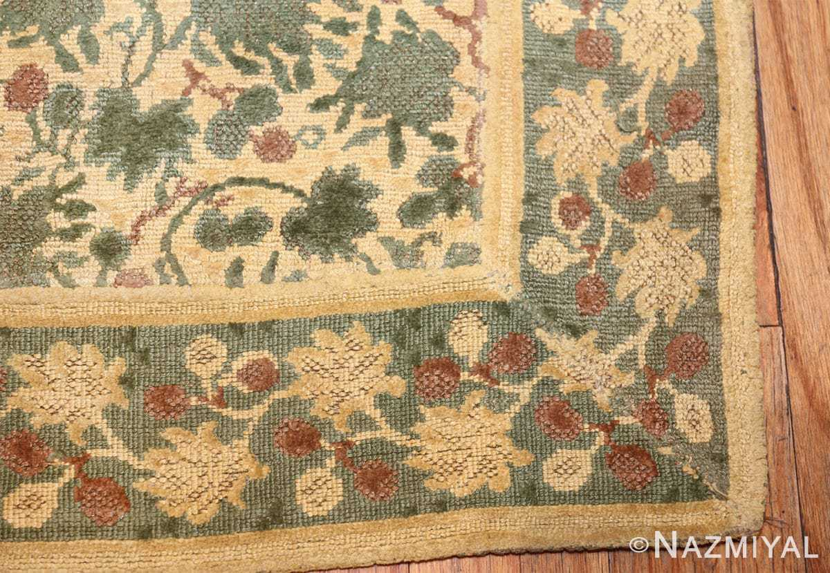 antique english chenille english rug 3418 corner Nazmiyal