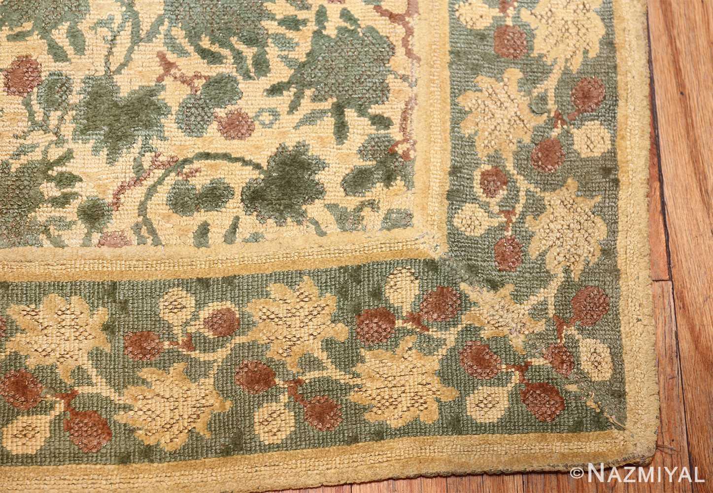 antique english chenille english rug 3418 corner Nazmiyal