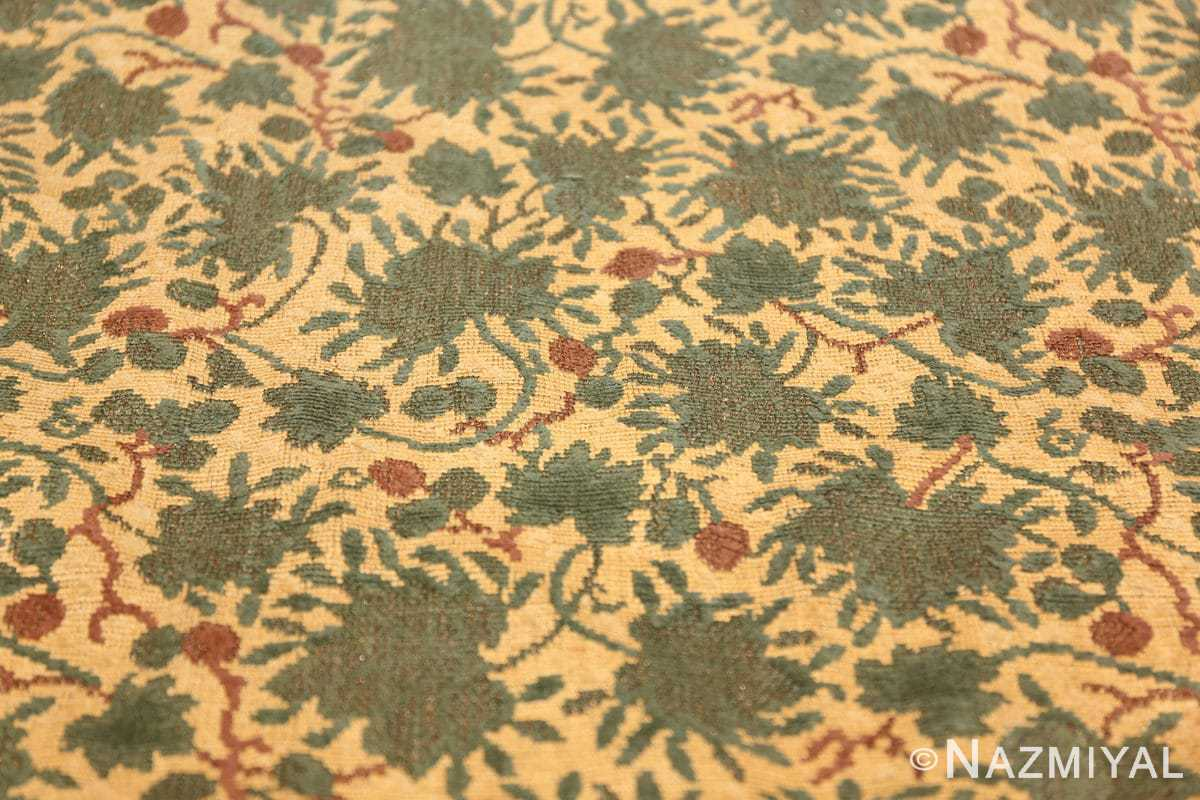 antique english chenille english rug 3418 leaves Nazmiyal