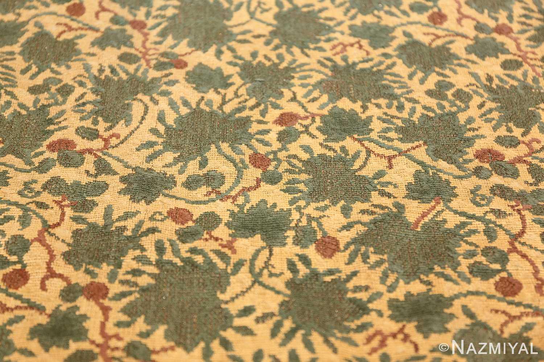 antique english chenille english rug 3418 leaves Nazmiyal