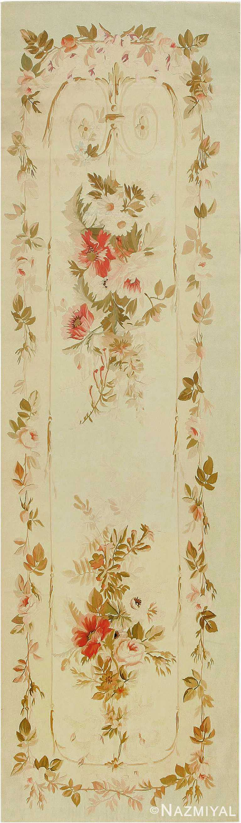 Antique French Aubusson Rug #2854 by Nazmiyal Antique Rugs