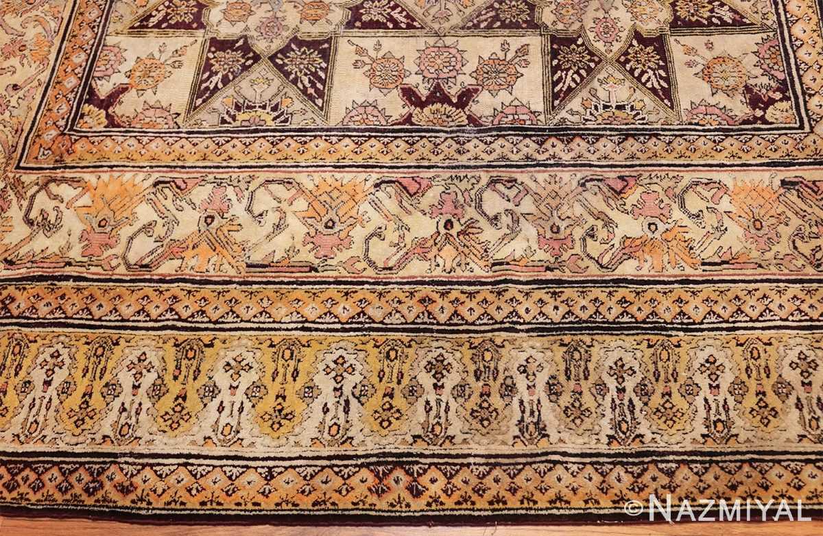 antique indian agra rug 3291 border Nazmiyal